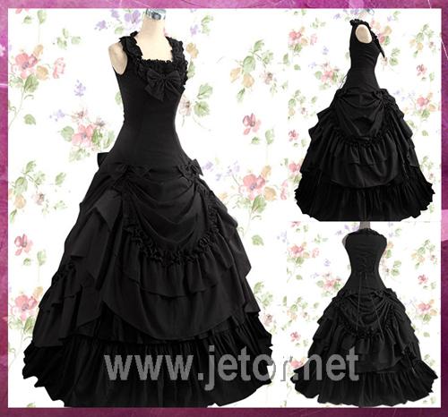 Erwachsenes viktorianisches Abendkleid