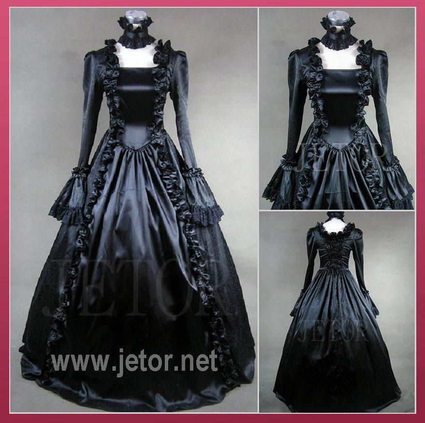 Schwarze viktorianische kleider
